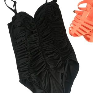 Vintage Land's End one piece swimsuit